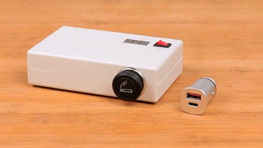 Making a powerful 12V power bank with a cigarette lighter socket