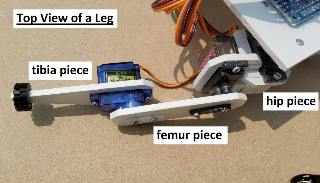 Four-legged crawling robot controlled by Arduino