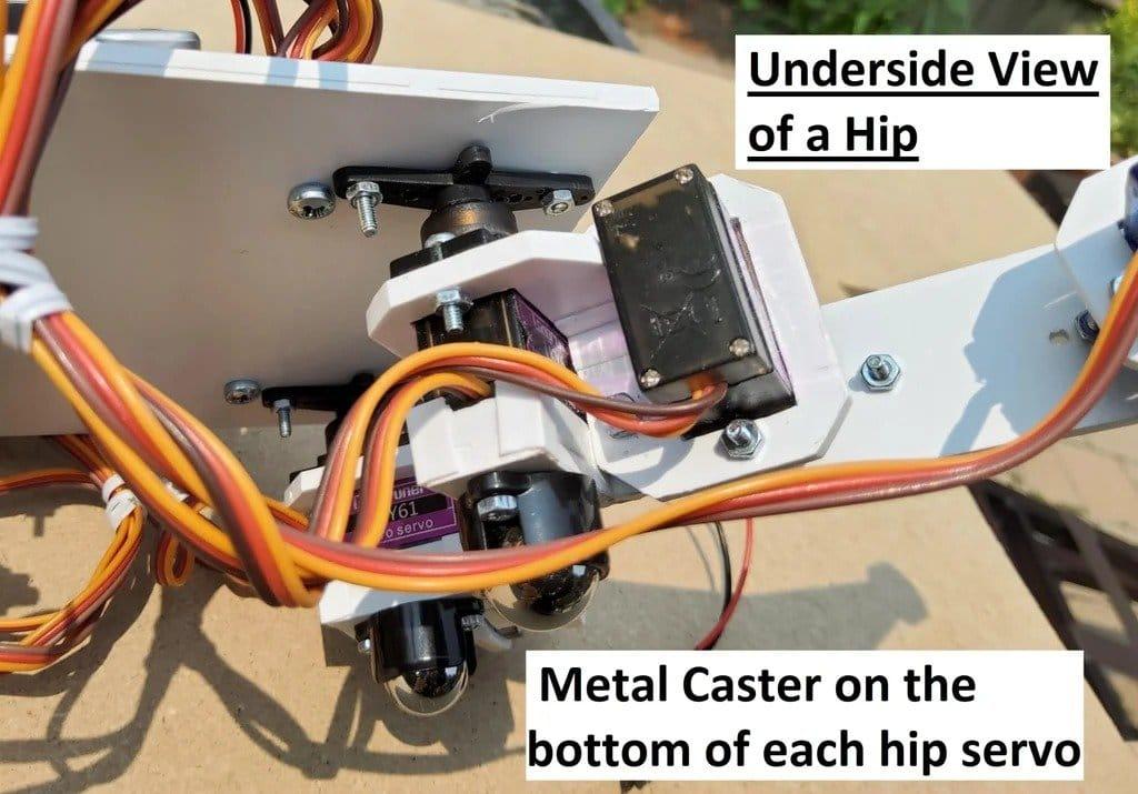 Arduino controlled four-legged crawling robot