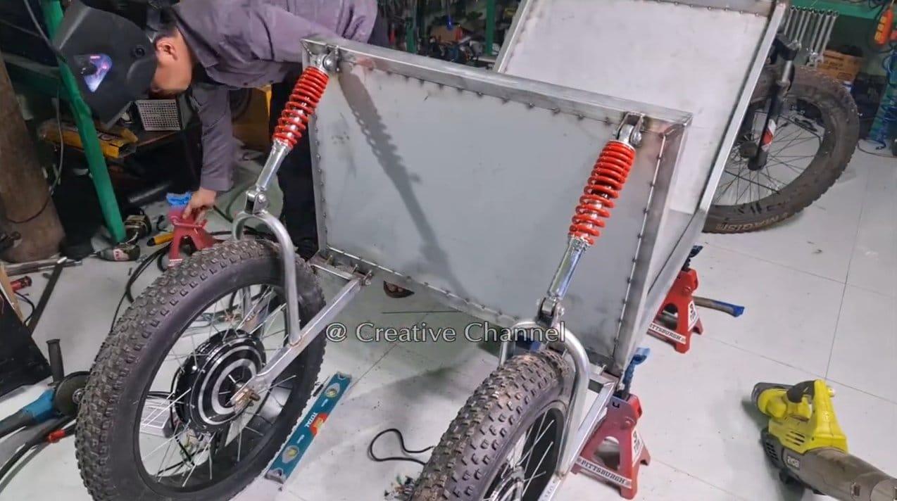 Electric car on a solar panel