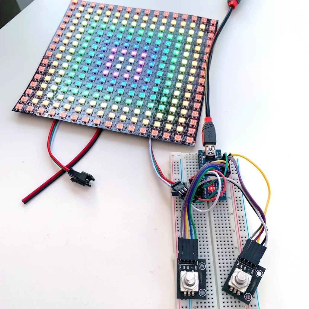 LED board with addressable LEDs