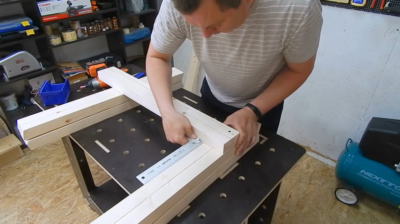 DIY folding carpentry trestle